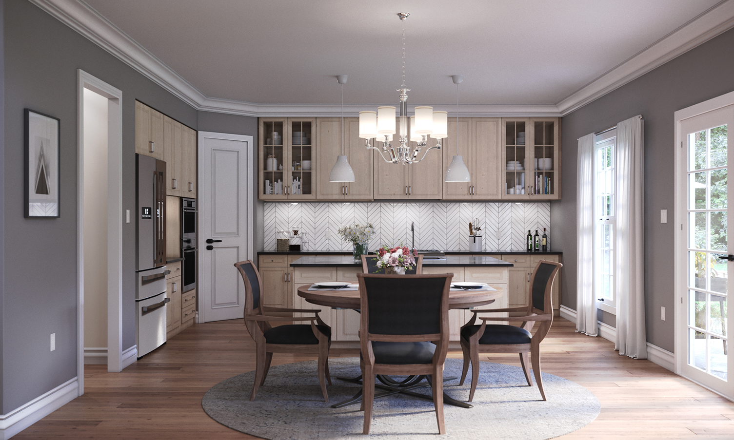 3d Interior Rendering Kitchen Artistic Visions