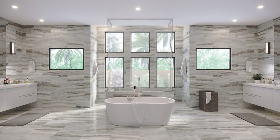 3D Rendering - Master Bathroom Design