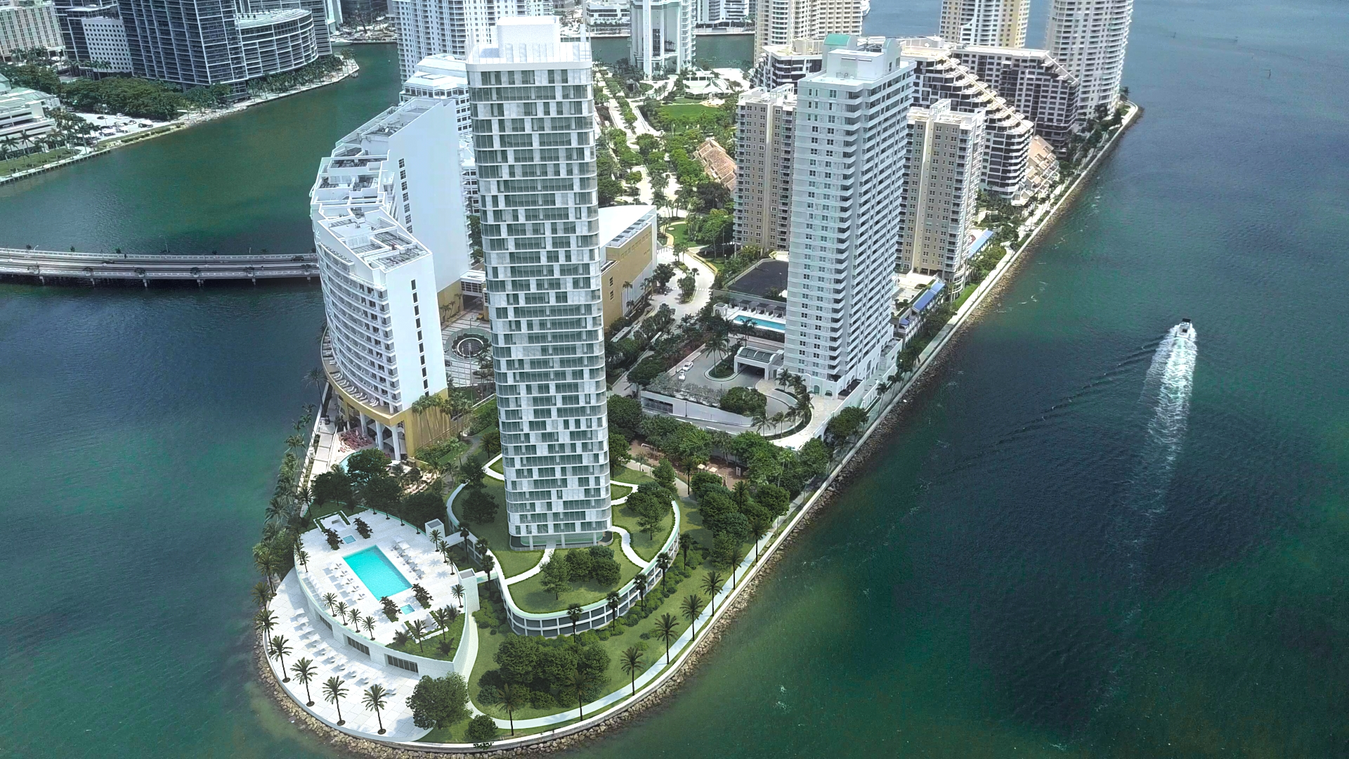 Miami High-Rise Animation w/Drone Integration