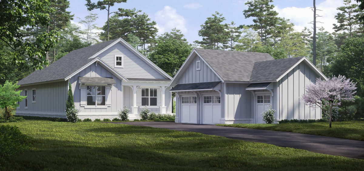 3D Exterior Cottage Renderings - A
