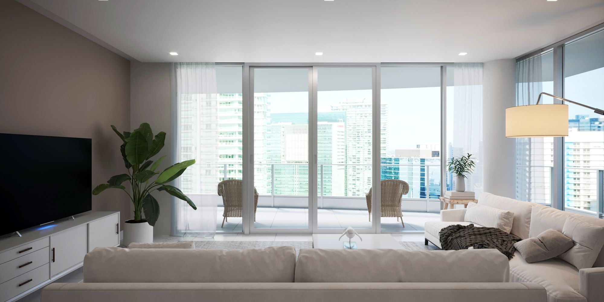 Miami Condo Living Space