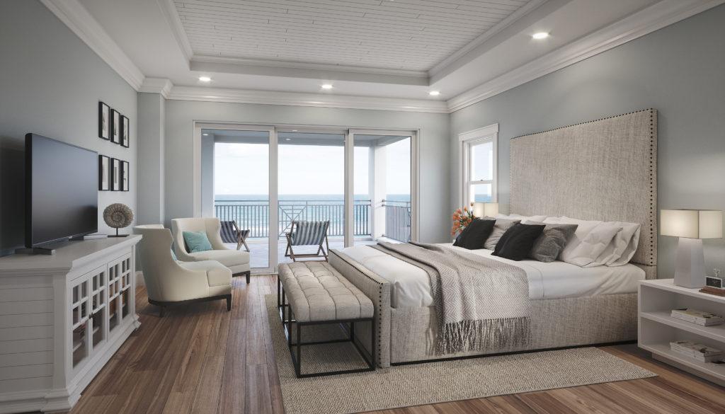 Renders 3d For Master Bedroom Project: OCEANFRONT MASTER BEDROOM RENDERING